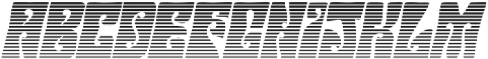 Hendrix Groove Gradient Italic otf (400) Font LOWERCASE