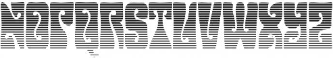 Hendrix Groove Gradient Regular otf (400) Font UPPERCASE