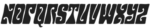 Hendrix Groove Italic otf (400) Font UPPERCASE