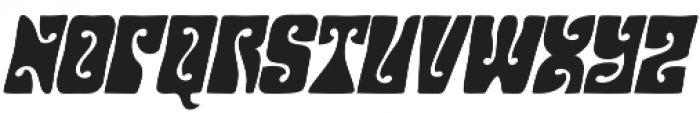 Hendrix Groove Italic otf (400) Font LOWERCASE