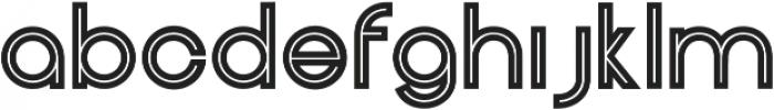 Henerale Outline otf (400) Font LOWERCASE