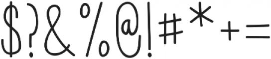 Hensel ttf (400) Font OTHER CHARS