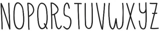 Hensel ttf (400) Font UPPERCASE