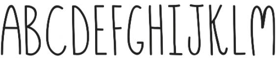 Hensel ttf (400) Font LOWERCASE