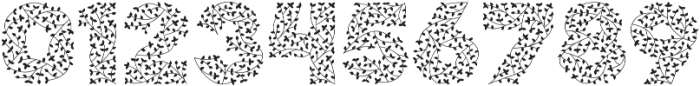 Herbaceous Border otf (400) Font OTHER CHARS