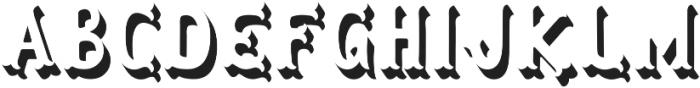 Herbert Lemuel Bold Shadow otf (700) Font UPPERCASE