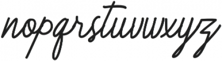Herbert Signature otf (400) Font LOWERCASE