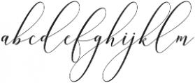 Hercules otf (400) Font LOWERCASE