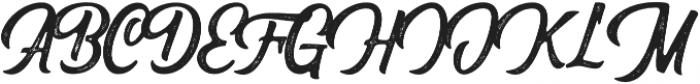 Herlsey Rough otf (400) Font UPPERCASE