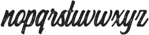 Herlsey Rough otf (400) Font LOWERCASE