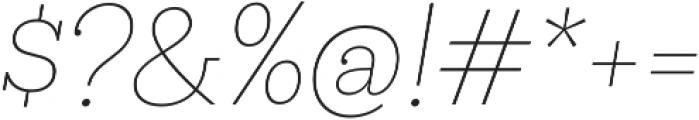 Hernandez Niu ExtraLight Italic otf (200) Font OTHER CHARS