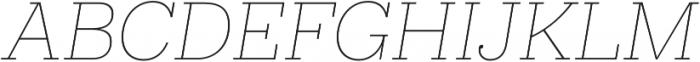 Hernandez Niu ExtraLight Italic otf (200) Font UPPERCASE