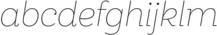 Hernandez Niu ExtraLight Italic otf (200) Font LOWERCASE