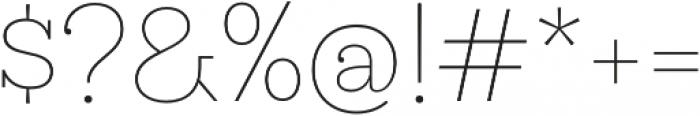 Hernandez Niu ExtraLight otf (200) Font OTHER CHARS