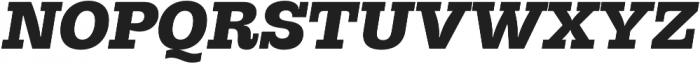 Hernandez Niu UltraBold Italic otf (700) Font UPPERCASE