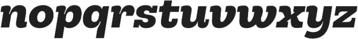Hernandez Niu UltraBold Italic otf (700) Font LOWERCASE
