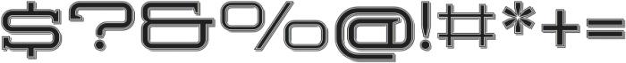 Herradura Inline Shadowed Regular otf (400) Font OTHER CHARS