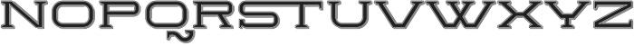 Herradura Inline Shadowed Regular otf (400) Font LOWERCASE