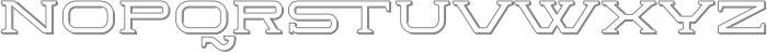Herradura Outline Shadowed Regular otf (400) Font LOWERCASE