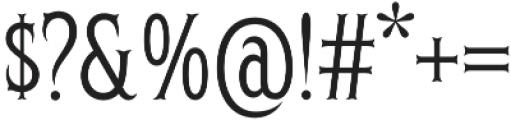 Herschel One Percent otf (400) Font OTHER CHARS