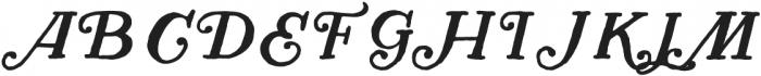 Herschel Regular otf (400) Font UPPERCASE
