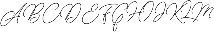 Herschel Script otf (400) Font UPPERCASE