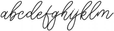 Herschel Script otf (400) Font LOWERCASE
