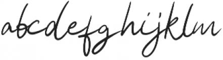 Hesgaki otf (400) Font LOWERCASE