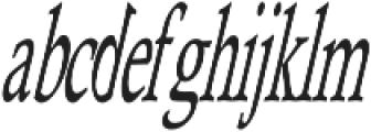Heulgeul-Italic otf (400) Font LOWERCASE