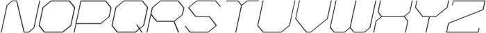 Hexting Italic otf (400) Font UPPERCASE
