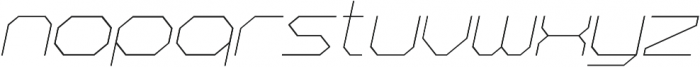 Hexting Italic otf (400) Font LOWERCASE
