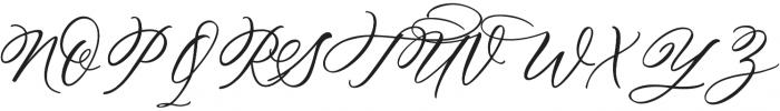 Hey Darling otf (400) Font UPPERCASE