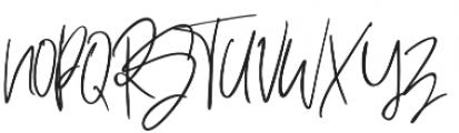Hey Fonallia Handwritting otf (400) Font UPPERCASE