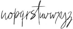 Hey Fonallia Handwritting otf (400) Font LOWERCASE