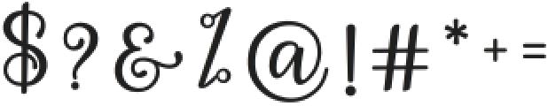 Hey Shanaya Regular otf (400) Font OTHER CHARS