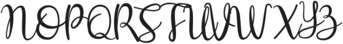Hey Shanaya Regular otf (400) Font UPPERCASE