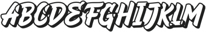 HeyBrights Extrude otf (400) Font UPPERCASE