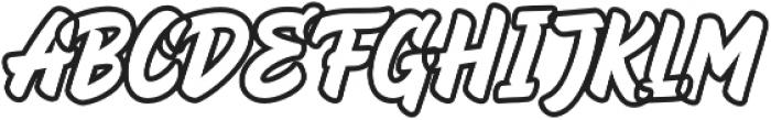 HeyBrights Outline otf (400) Font UPPERCASE