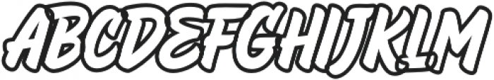 HeyBrights Outline otf (400) Font LOWERCASE