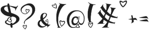 heart font otf (400) Font OTHER CHARS