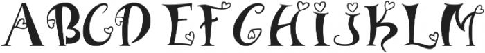 heart font otf (400) Font UPPERCASE