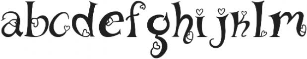 heart font otf (400) Font LOWERCASE