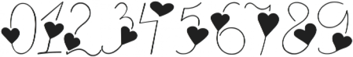 heart thin full otf (100) Font OTHER CHARS