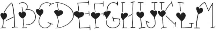heart thin full otf (100) Font UPPERCASE