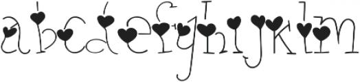 heart thin full otf (100) Font LOWERCASE