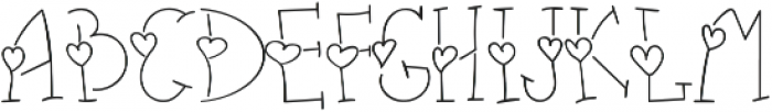 heart thin otf (100) Font UPPERCASE