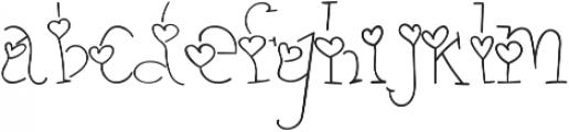 heart thin otf (100) Font LOWERCASE