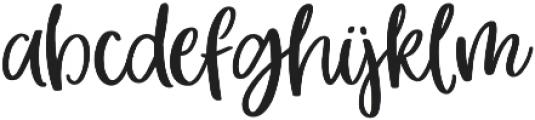 hey girl otf (400) Font LOWERCASE