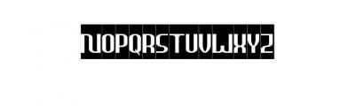 HEAVYwood Bold Italic Font UPPERCASE