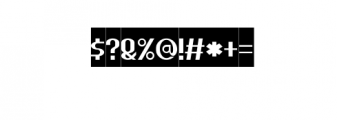 HEAVYwood Inverse.otf Font OTHER CHARS